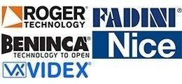 A-merken poortopeners en hekopeners en videofoonsystemen bij Porttech: Roger Technology, Beninca, Nice, Fadini, Allmatic en Videx.