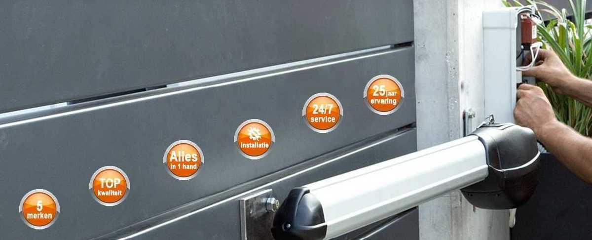 Installatie automatische poort door Porttech
